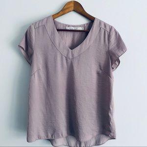 Contemporaine Simons Flowy Mauve Shirt